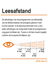 safety-signs.nl Pictogram - P003 - Vuur, open vlam en roken verboden - ISO 7010