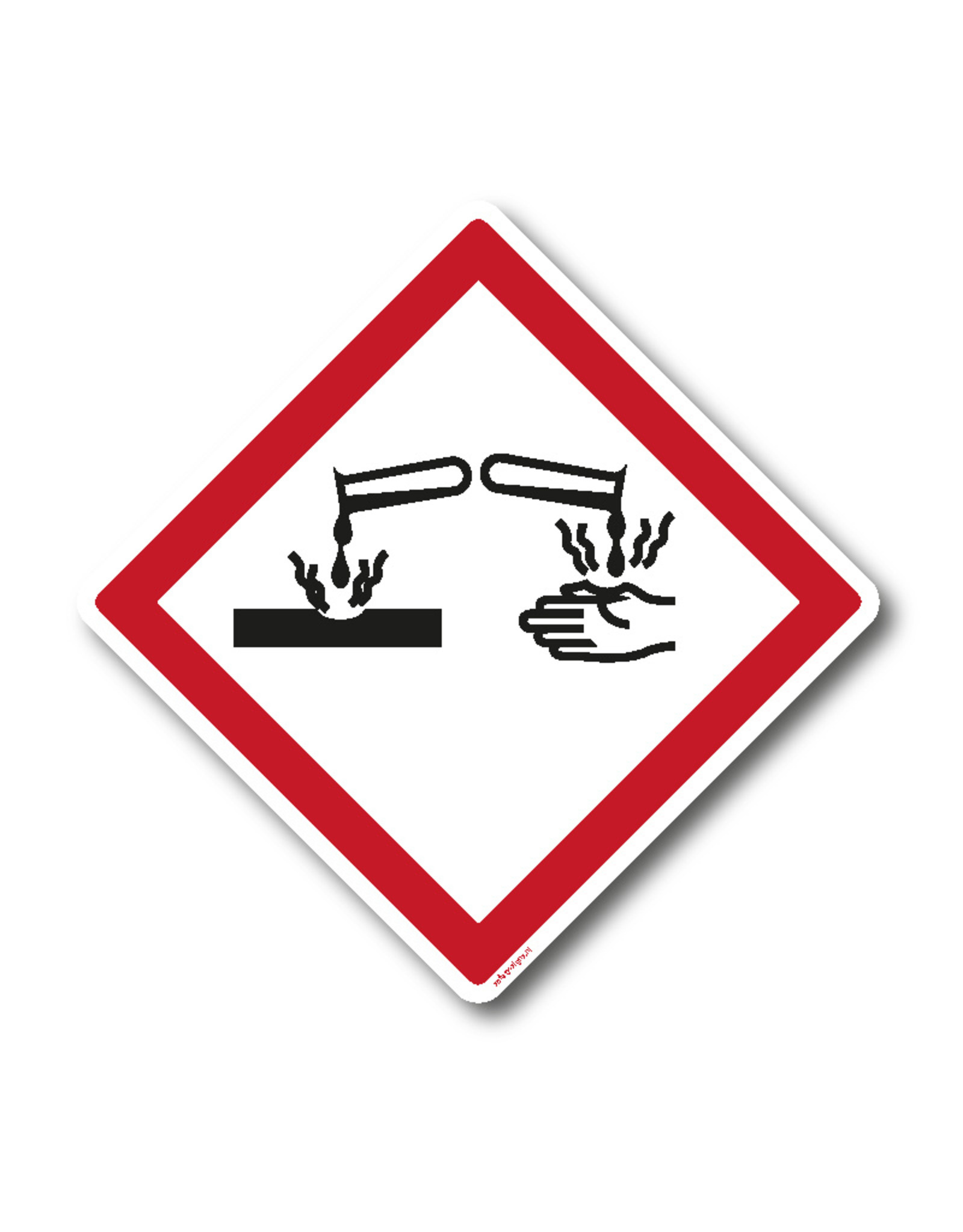 safety-signs.nl Pictogram - GHS05 - Bijtend