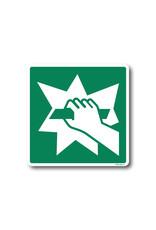 BrouwerSign Pictogram - E008 - Bij nood glas breken - ISO 7010