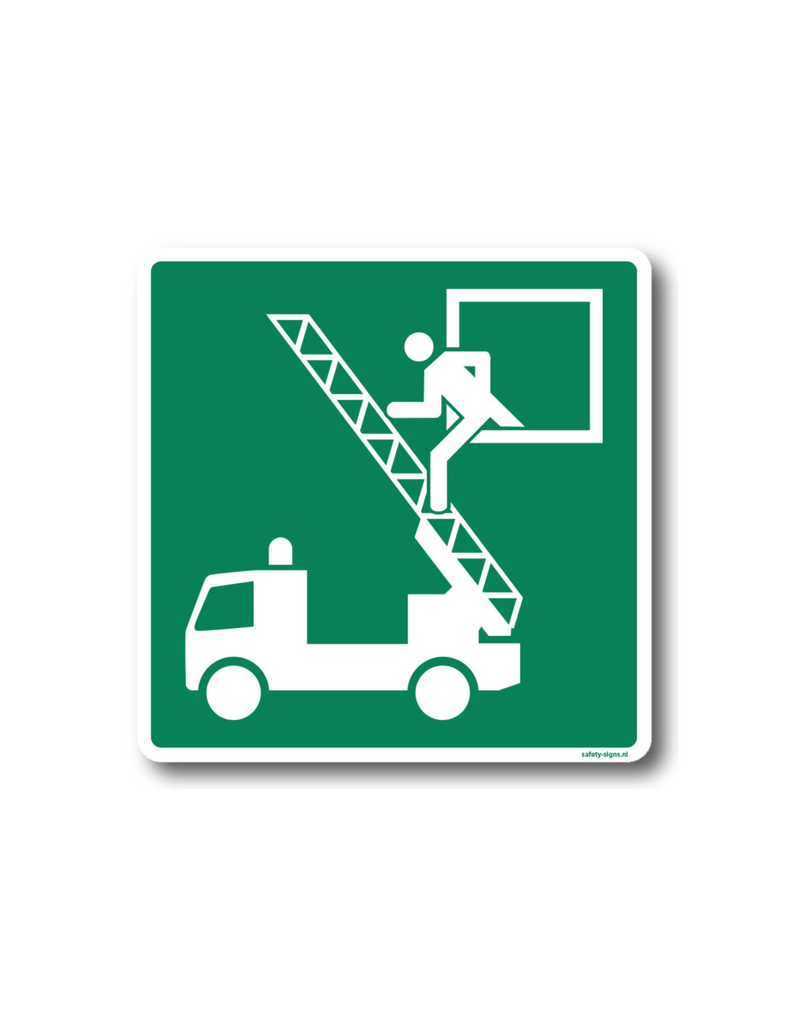 BrouwerSign Pictogram - E017 - Noodraam evacuatie - ISO 701