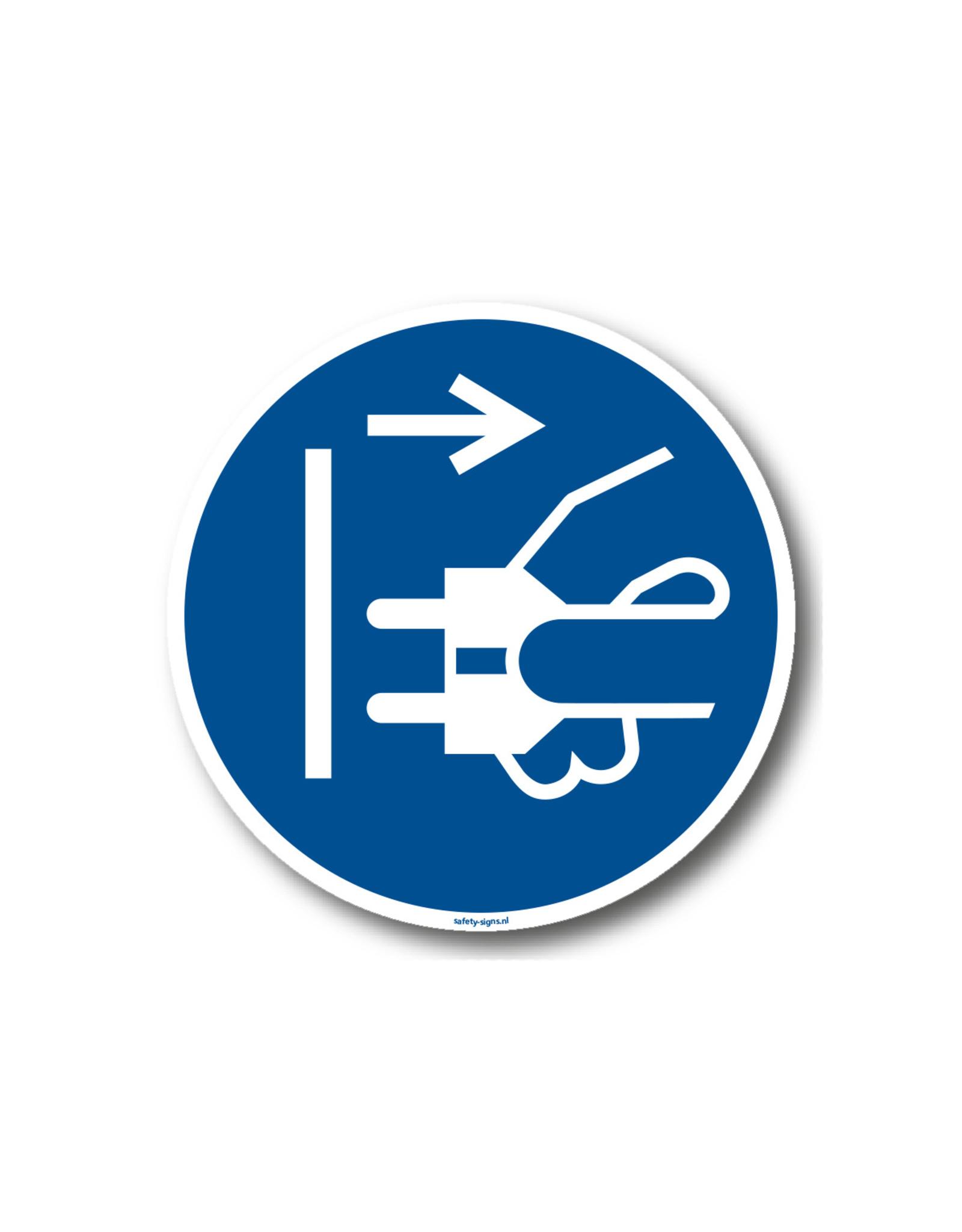 BrouwerSign Pictogram - M006 - Voor het openen stekker uit stopcontact trekken - ISO 7010