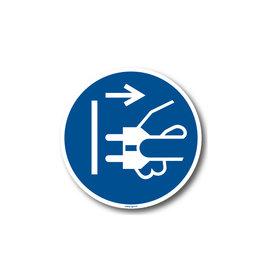 BrouwerSign M006 - Voor het openen stekker uit stopcontact trekken