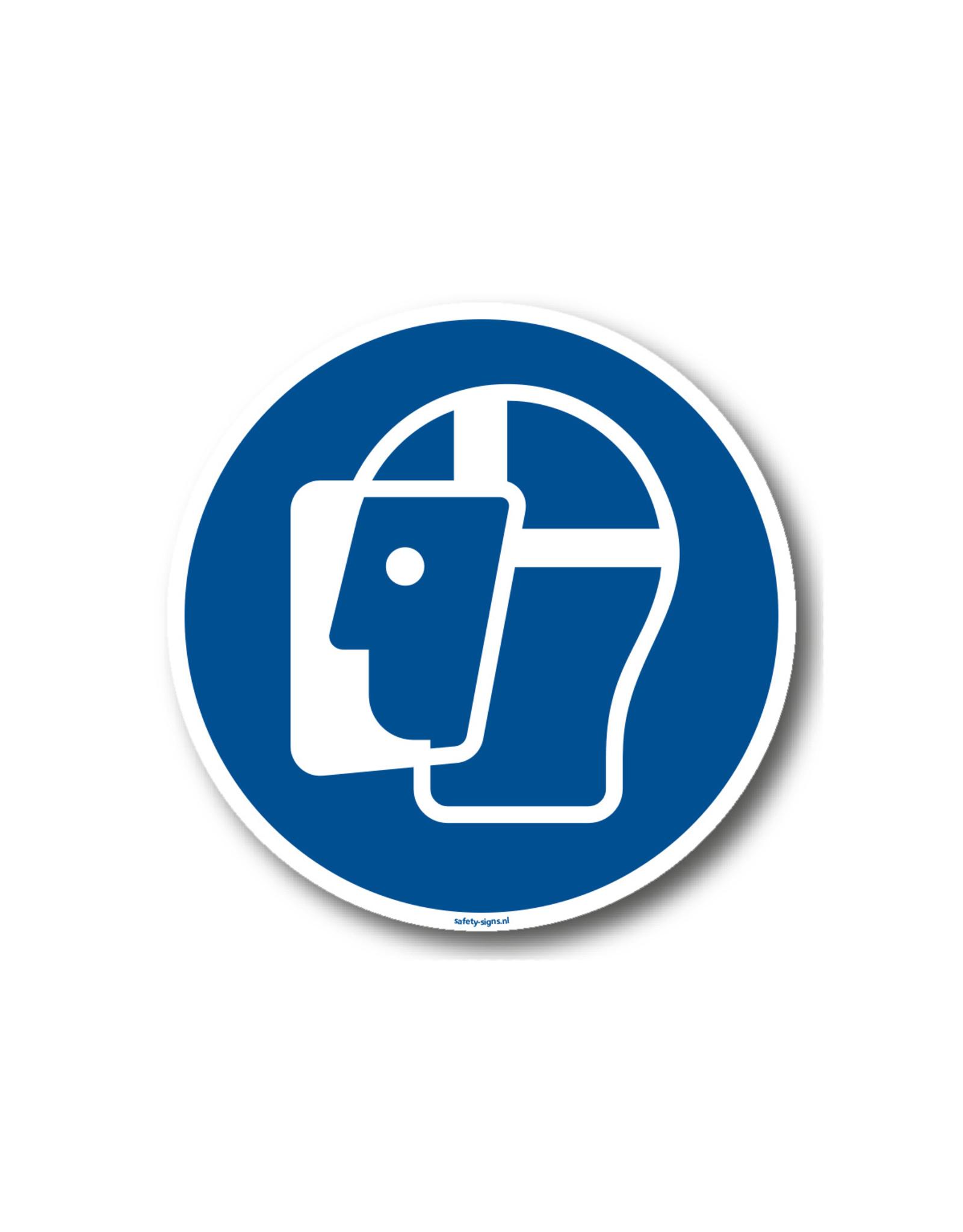 BrouwerSign Pictogram - M013 - Gelaatsbescherming verplicht - ISO 7010