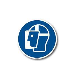 BrouwerSign M013 - Gelaatsbescherming verplicht