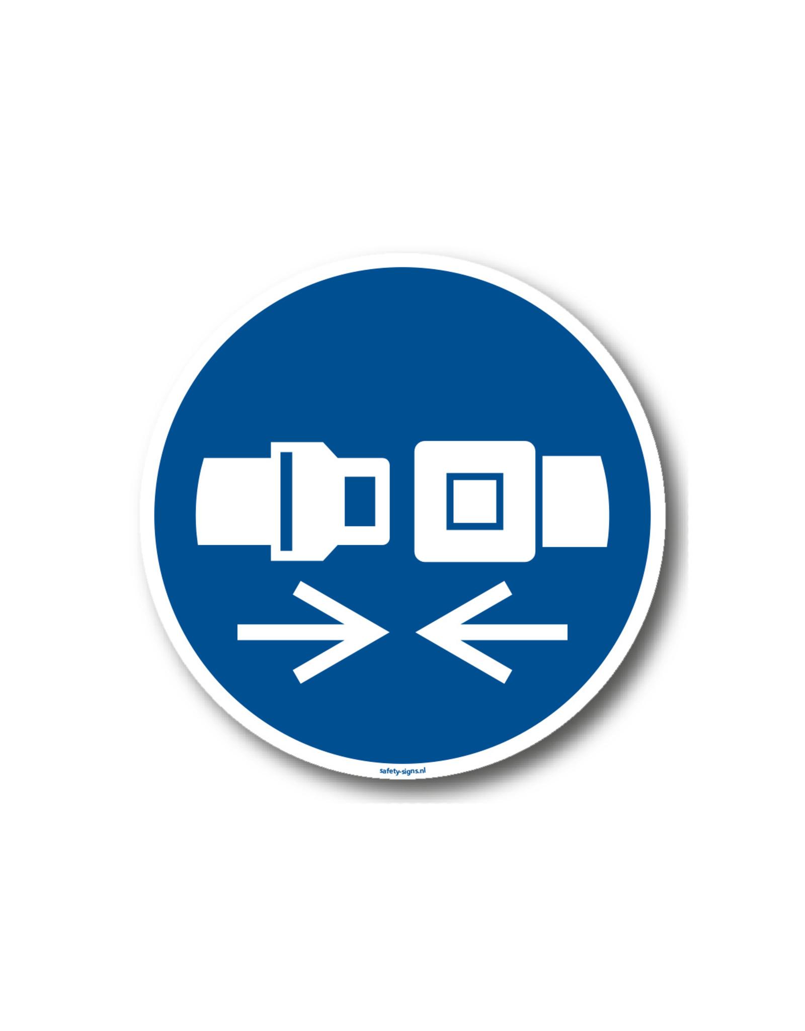 BrouwerSign Pictogram - M020 - Veiligheidsriem verplicht - ISO 7010