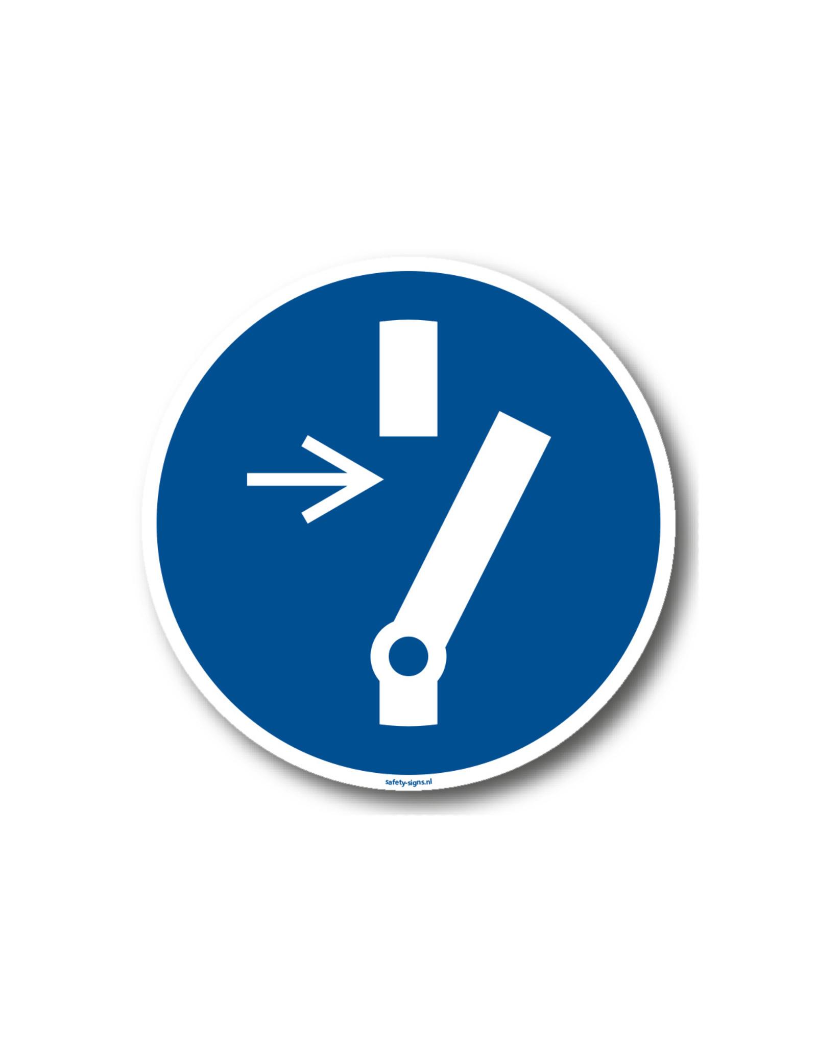 BrouwerSign Pictogram - M021 - Vrijschakelen verplicht voor onderhoud of herstelling - ISO 7010