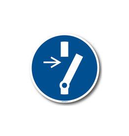 BrouwerSign M021 - Vrijschakelen verplicht voor onderhoud of herstelling