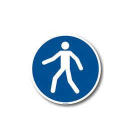 BrouwerSign M024 - Verplichte doorgang voetgangers