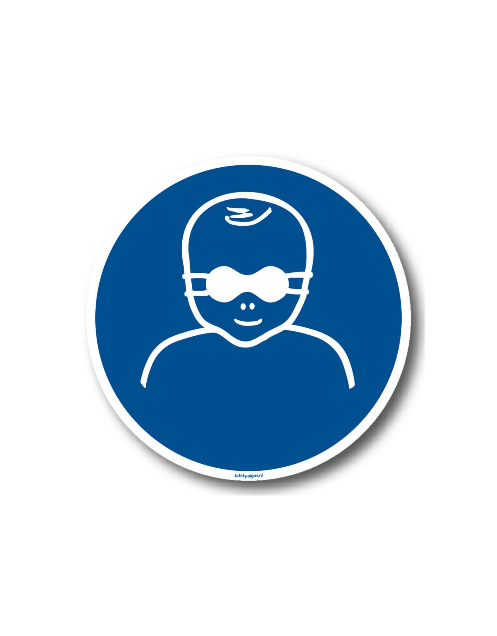 BrouwerSign Pictogram - M025 - Oogbescherming voor kinderen verplicht - ISO 7010