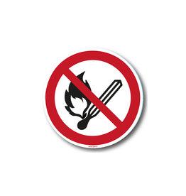 safety-signs.nl P003 - Vuur, open vlam en roken verboden