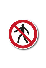 safety-signs.nl Pictogram - P004 - Verboden voor voetgangers - ISO 7010