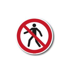 safety-signs.nl P004 - Verboden voor voetgangers
