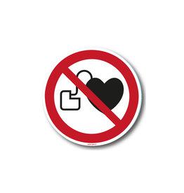 safety-signs.nl P007 - Verboden voor personen met pacemaker