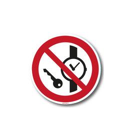 safety-signs.nl P008 - Kleine metalen voorwerpen verboden