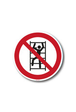 safety-signs.nl Pictogram - P009 - Klimmen verboden - ISO 7010