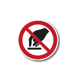 safety-signs.nl P010 - Aanraken verboden