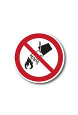 safety-signs.nl Pictogram - P011 - Verboden met water te blussen - ISO 7010