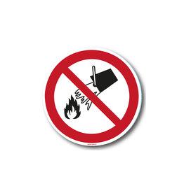 safety-signs.nl P011 - Verboden met water te blussen