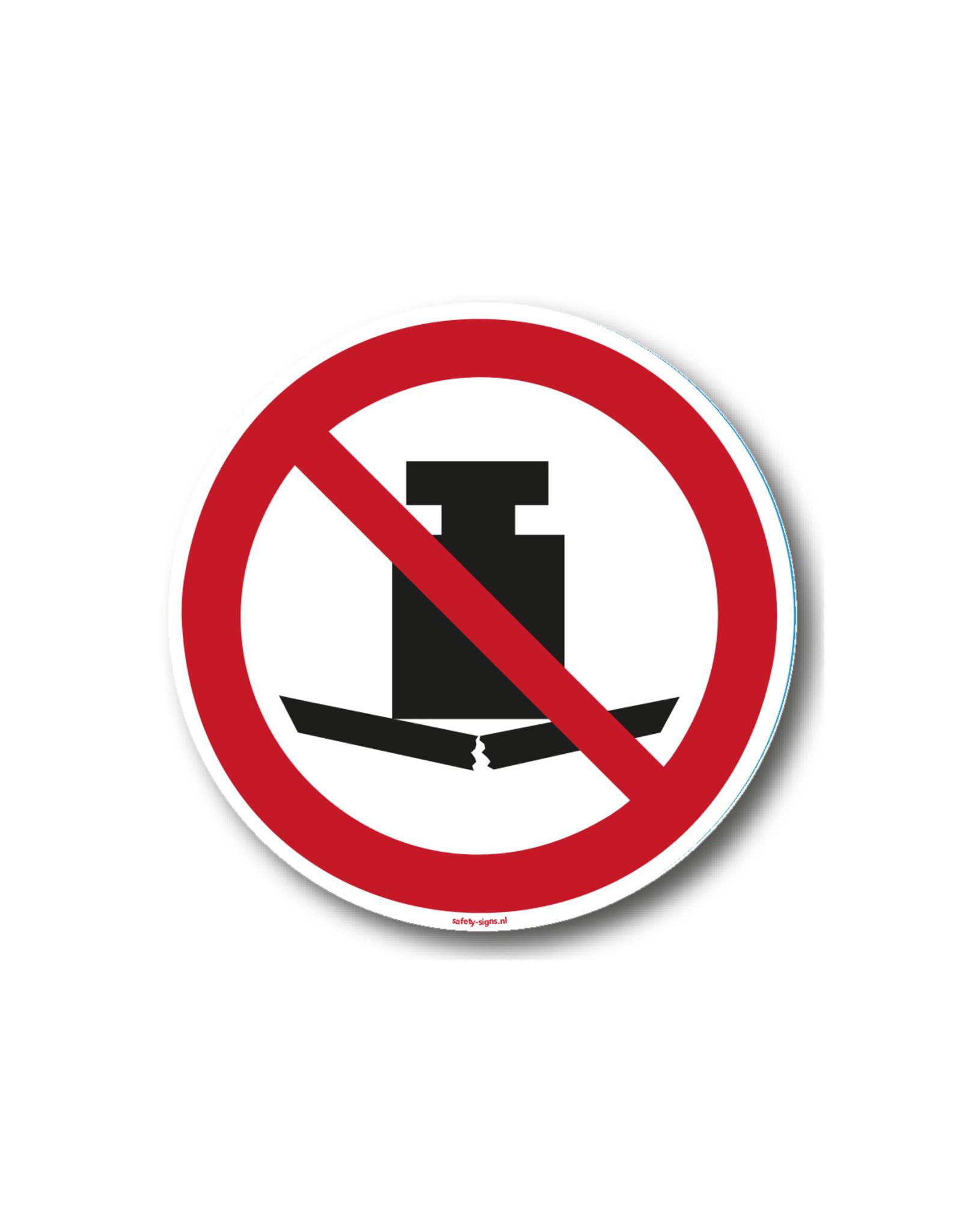 safety-signs.nl Pictogram - P012 - Geen zware last plaatsen - ISO 7010