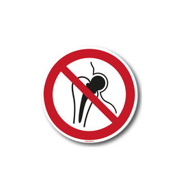 safety-signs.nl P014 - Verboden voor personen met metalen implantaat