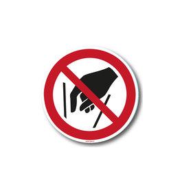 safety-signs.nl P015 - Verboden in vergaarbak te grijpen