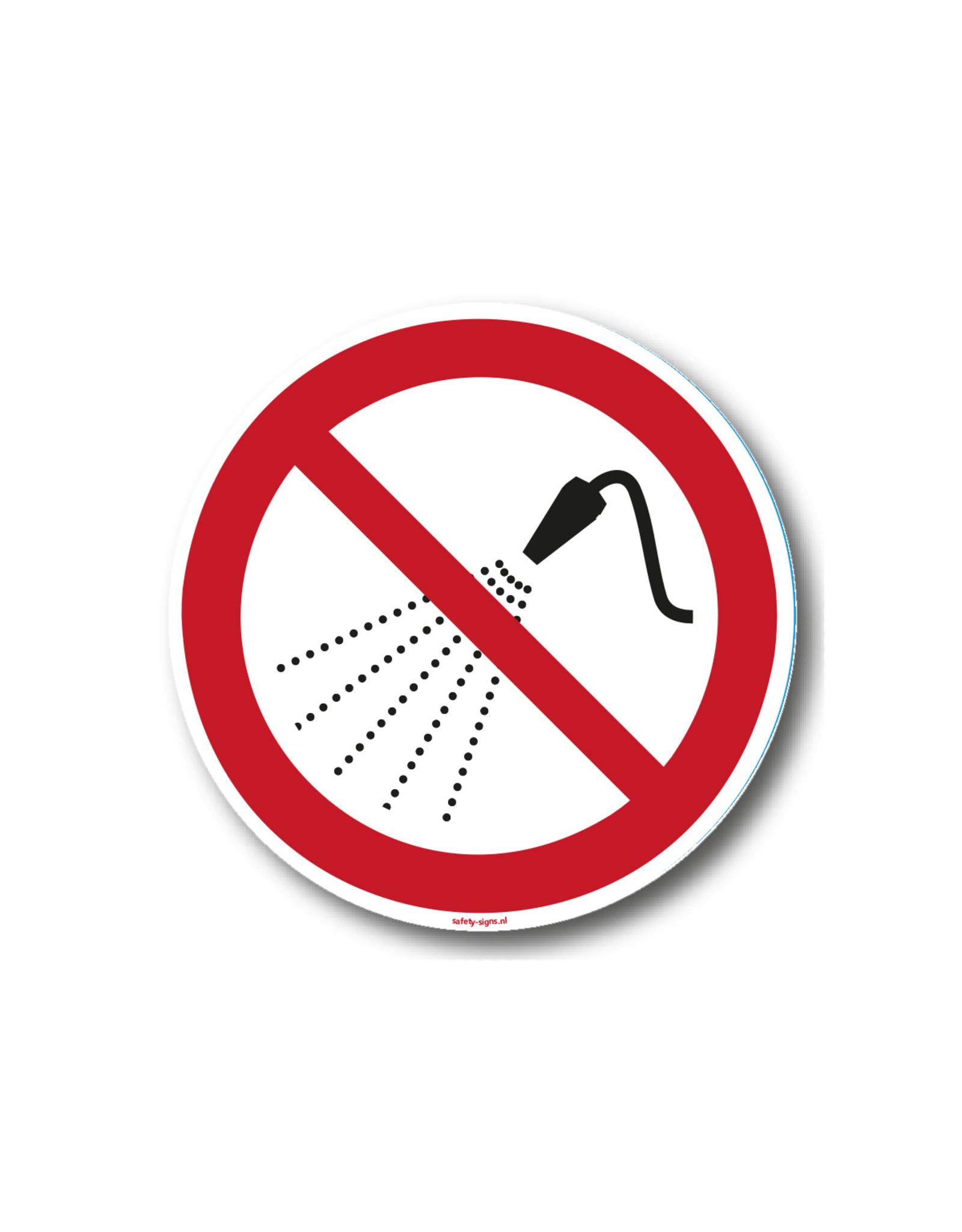 safety-signs.nl Pictogram - P016 - Verboden te besproeien met water - ISO 7010
