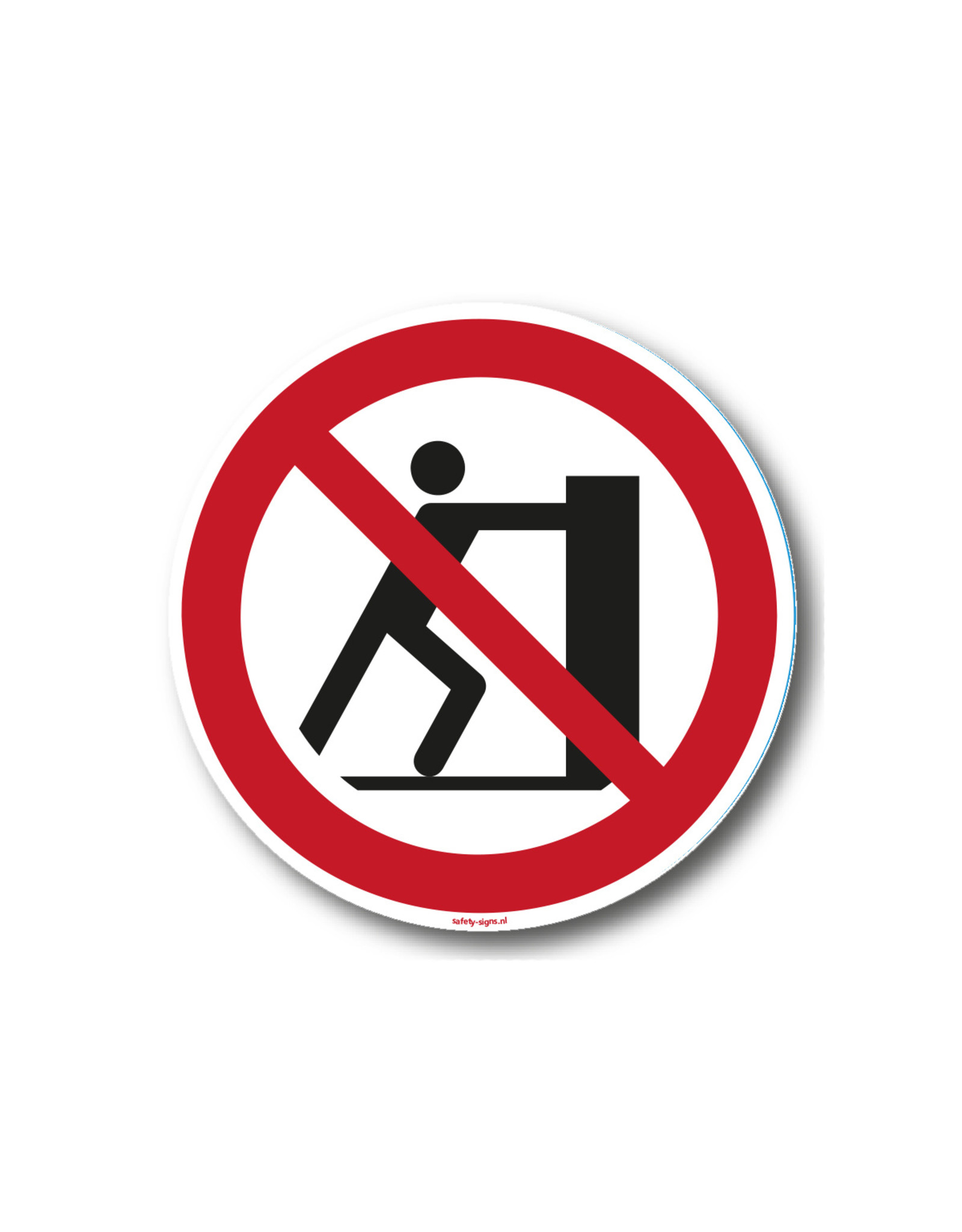 safety-signs.nl Pictogram - P017 - Verboden te duwen - ISO 7010