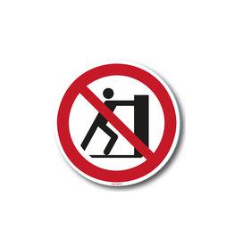 safety-signs.nl P017 - Verboden te duwen