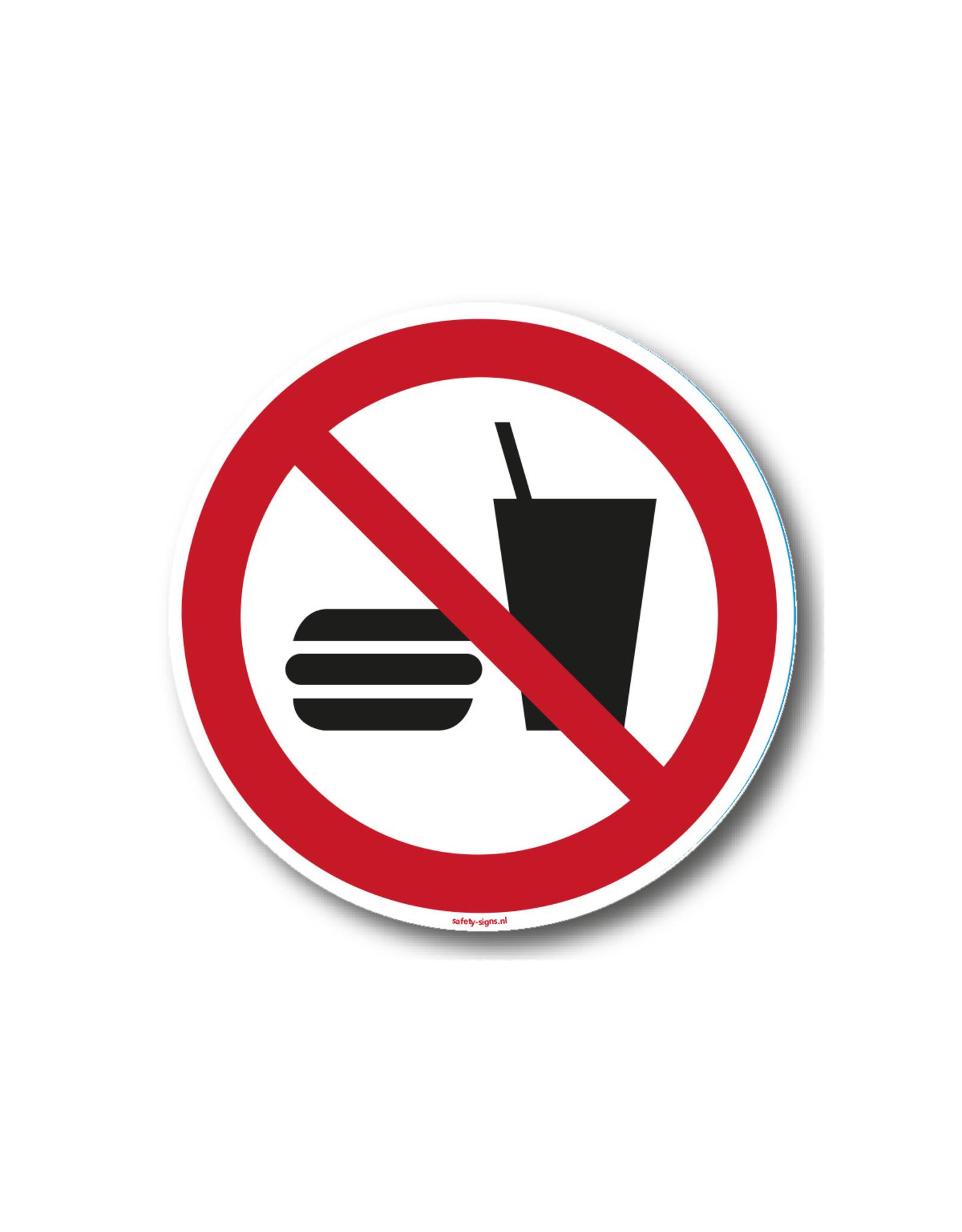 safety-signs.nl Pictogram - P022 - Eten en drinken verboden - ISO 7010
