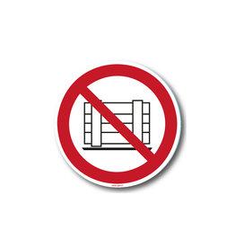 safety-signs.nl P023 - Verboden goederen te plaatsen