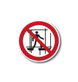safety-signs.nl P025 - Verboden onafgewerkte stelling te gebruiken