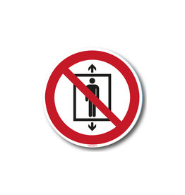 safety-signs.nl P027 - Lift voor personen verboden