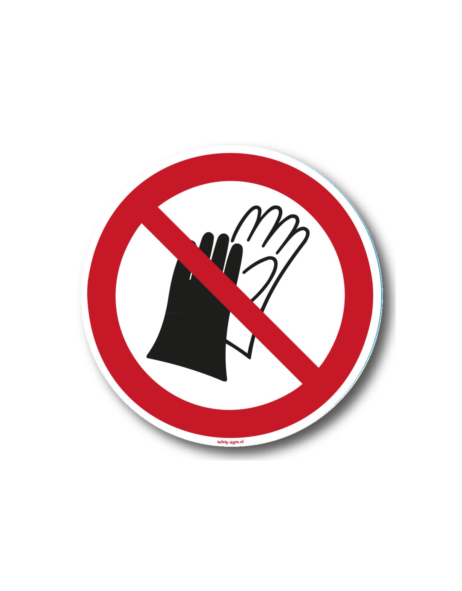 safety-signs.nl Pictogram - P028 - Dragen van handschoenen verboden - ISO 7010