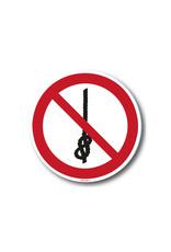 safety-signs.nl Pictogram - P030 - Verboden knopen te maken - ISO 7010