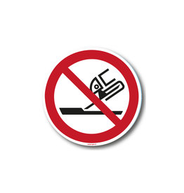 safety-signs.nl P032 - Verboden slijpschijf te gebruiken