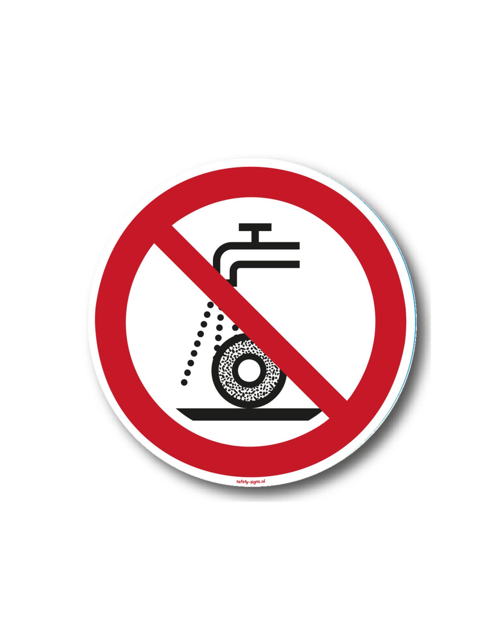 safety-signs.nl Pictogram - P033 - Verboden nat te slijpen - ISO 7010