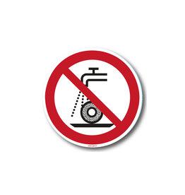 safety-signs.nl P033 - Verboden nat te slijpen