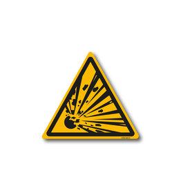 safety-signs.nl W002 - Waarschuwing explosieve stoffen