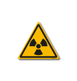 safety-signs.nl W003 - Waarschuwing radioactieve stoffen