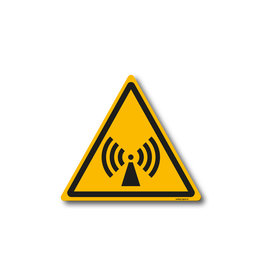 safety-signs.nl W005 - Waarschuwing Niet-ioniserende straling
