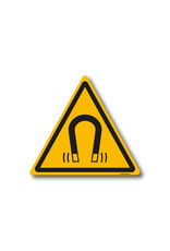 safety-signs.nl Pictogram - W006 - Waarschuwing sterk magnetisch veld - ISO 7010