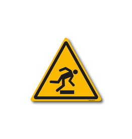 safety-signs.nl W008 - Waarschuwing vallen door hoogte verschil