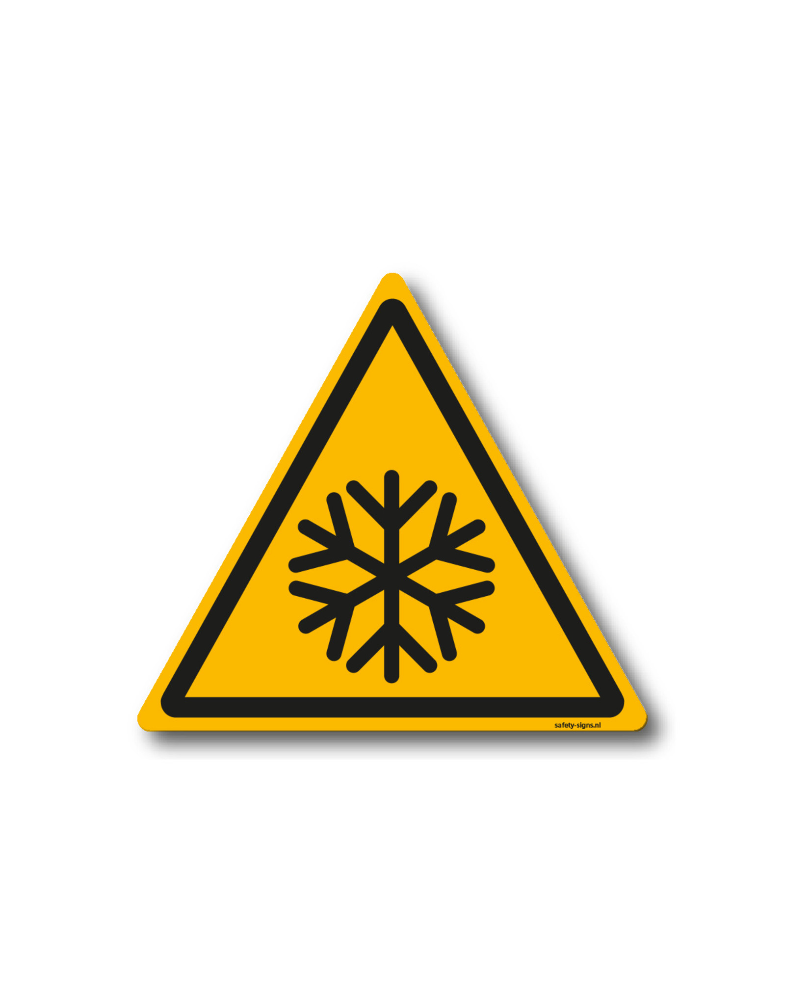 safety-signs.nl Pictogram - W010 - Waarschuwing lage temperaturen - ISO 7010