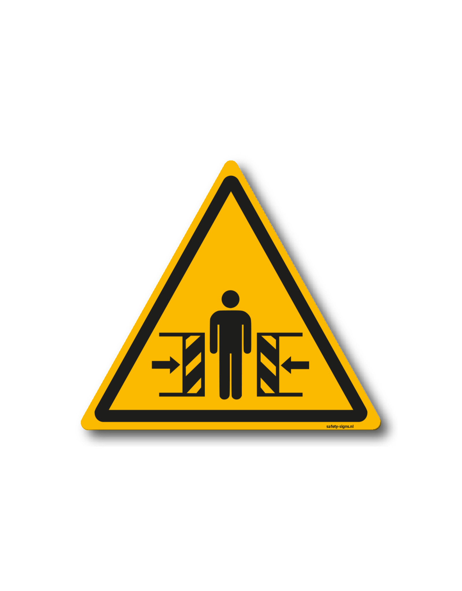 safety-signs.nl Pictogram - W019 - Waarschuwing knellingsgevaar - ISO 7010
