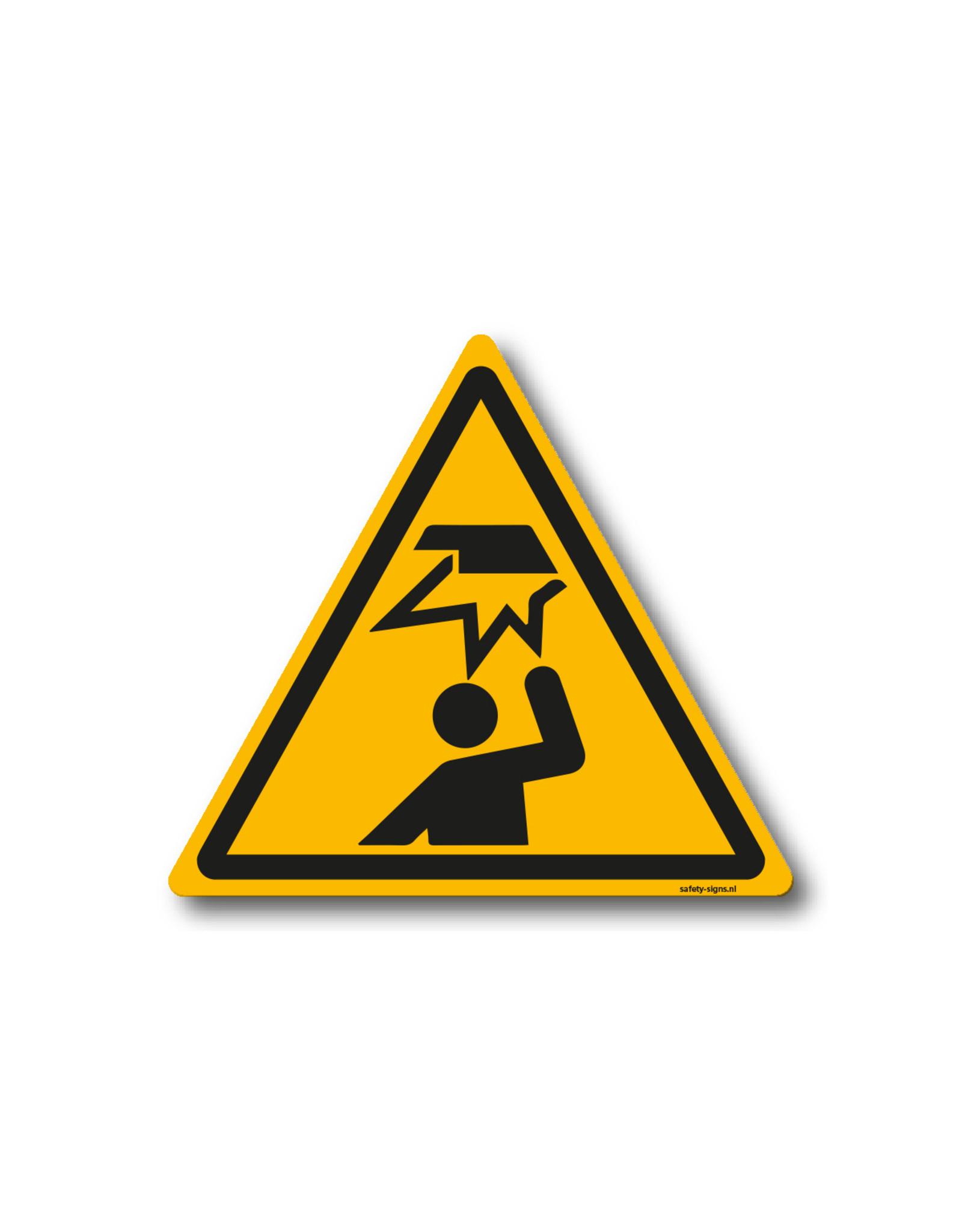 safety-signs.nl Pictogram - W020 - Waarschuwing laaghangende obstakel, stootgevaar - ISO 7010