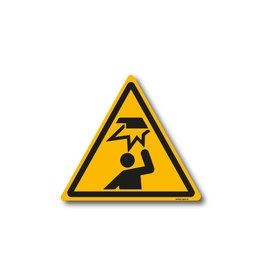 safety-signs.nl W020 - Waarschuwing laaghangende obstakel, stootgevaar