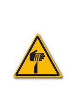 safety-signs.nl Pictogram - W022 - Waarschuwing scherpe elementen - ISO 7010
