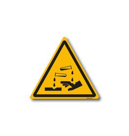 safety-signs.nl W023 - Waarschuwing bijtende stoffen