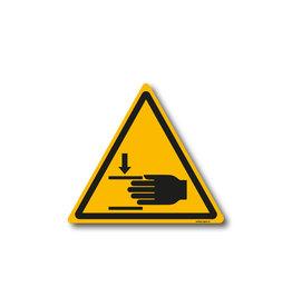 safety-signs.nl W024 - Waarschuwing klemgevaar voor hand
