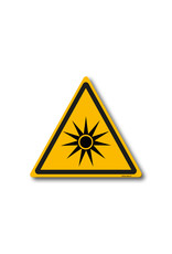 safety-signs.nl Pictogram - W027 - Waarschuwing optische straling - ISO 7010